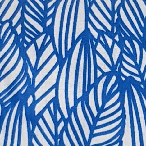 Feuilles bleu fond blanc