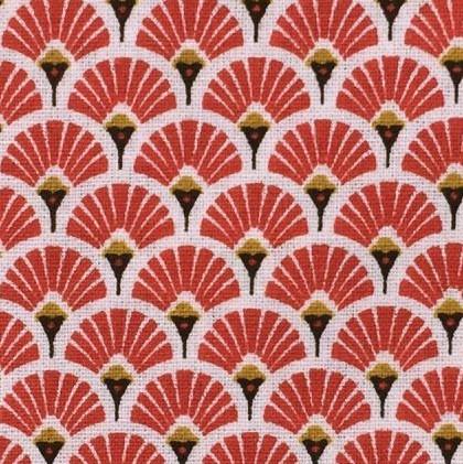 Eventails japonais rouge